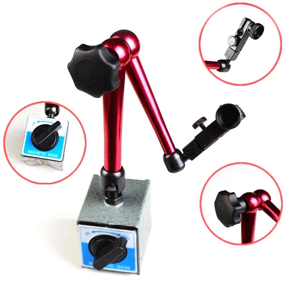 Magnetic Stand Adjustable Small Gauge Stand Lever Base Holder Digital Level Dial Test Indicator Flexible Arm for Dial Gauge and Comparator.