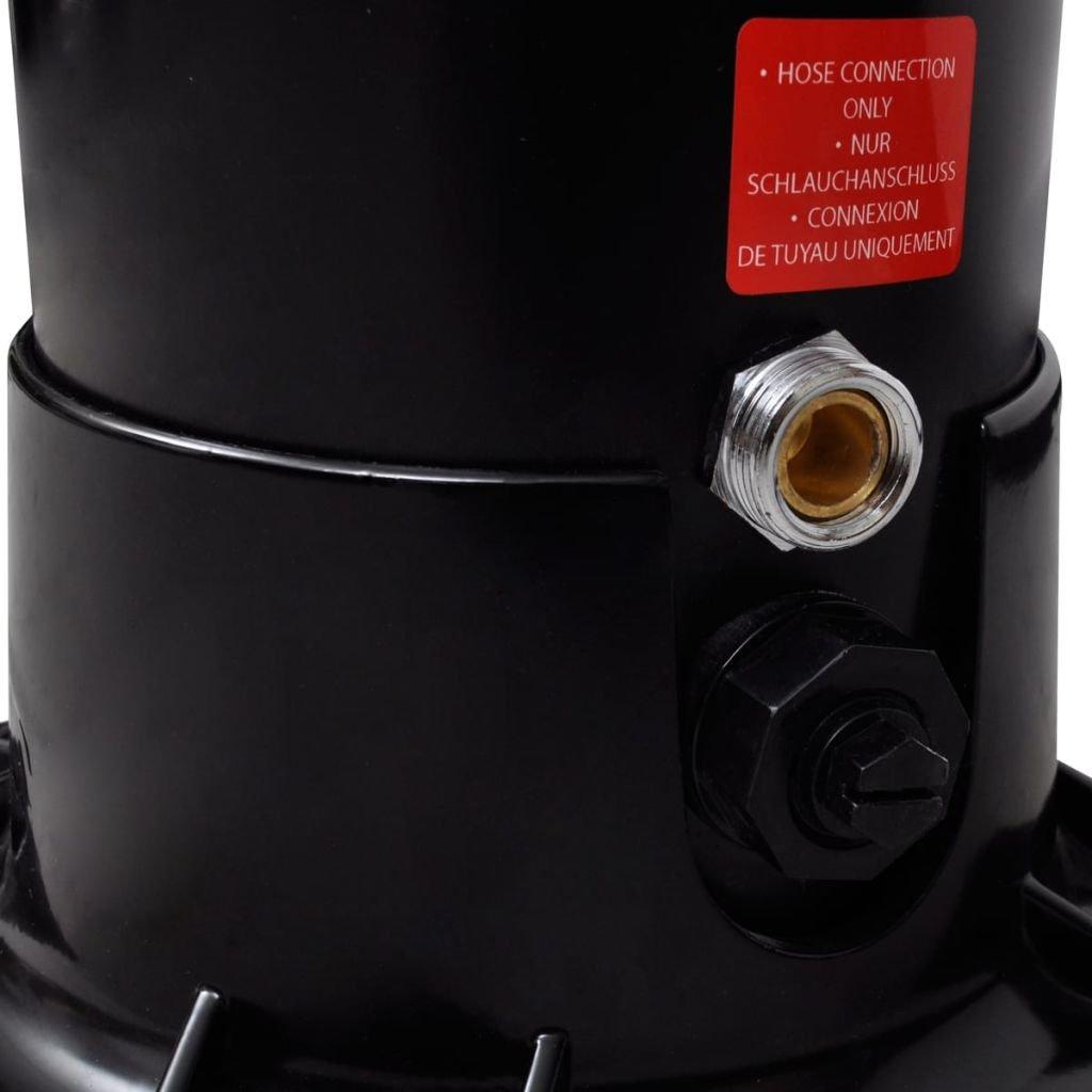 mewmewcat Gartendusche Solardusche Pooldusche aus UV-best/ändigem PVC mit Wassertank 35 Liter 16 x 16 x 196 cm