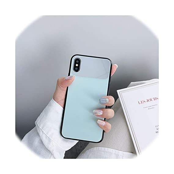 Amazon.com: Mirror Glass Case for iPhone Xs Max Xr X Bright ...