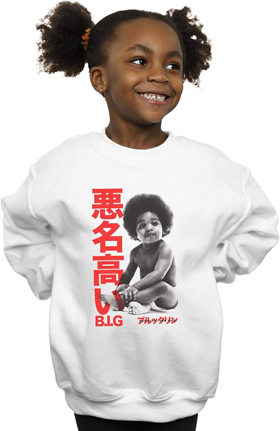 ABSOLUTECULT Notorious Big Girls Kanji Baby Sweatshirt