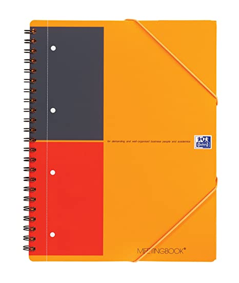 Cahier Paper Oxford Book Meeting 30852 Optik Chemise Couverture fRTwBv