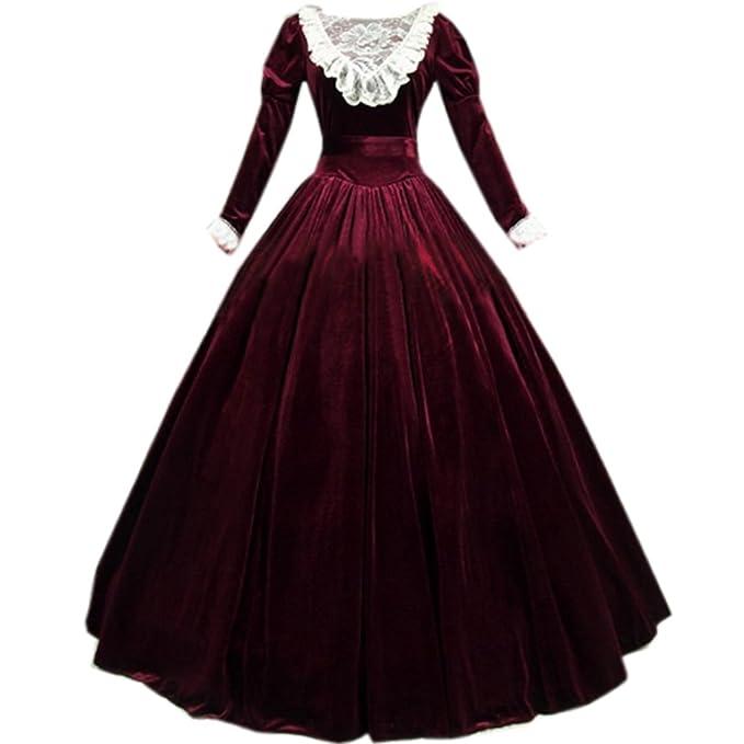 Amazon.com: I-Youth - Vestido victoriano de terciopelo para ...