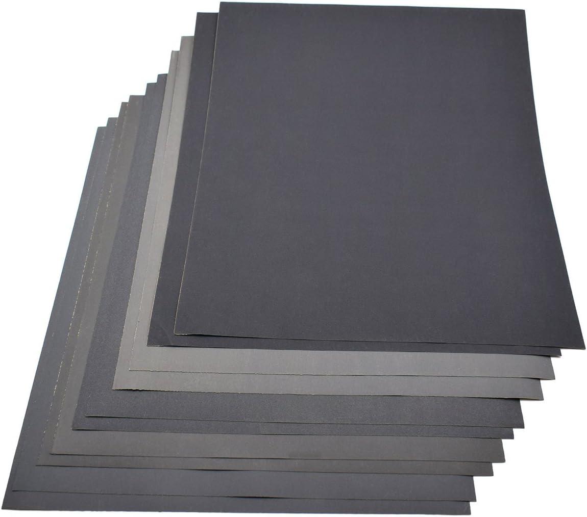 1 x Grit 800 1000 1200 1500 2000 Sandpaper Dry//Wet 9 x 11 Inch Abrasive Sand Paper Pack of 5