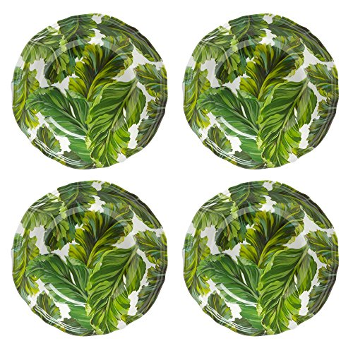 Coastal Living Seascapes Havana Leaf Melamine Salad Bowls, Set of 4