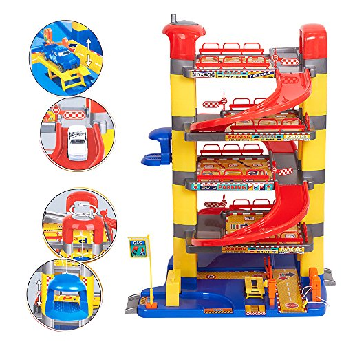COLORTREE Pretend Play Toy Super Garage Playset (Garage Play Pretend)