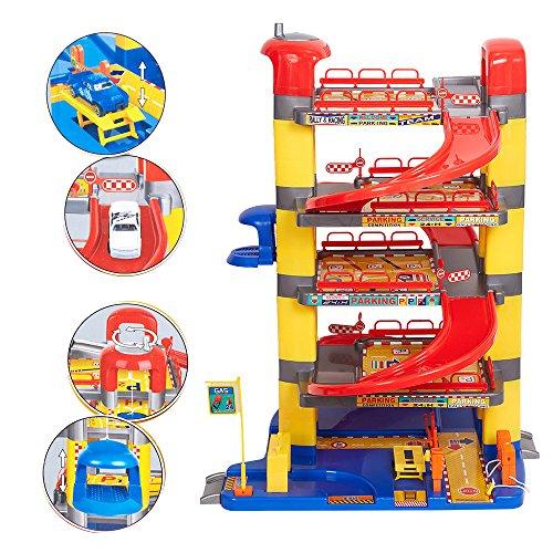COLORTREE Pretend Play Toy Super Garage (Pretend Play Garage)