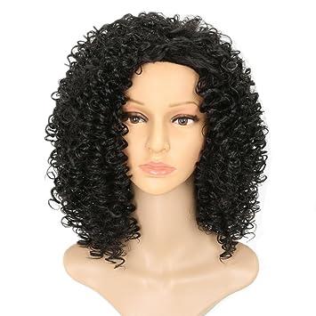 Pelucas rizadas peluca de volumen pequeño de las mujeres europeas y americanas peluca de
