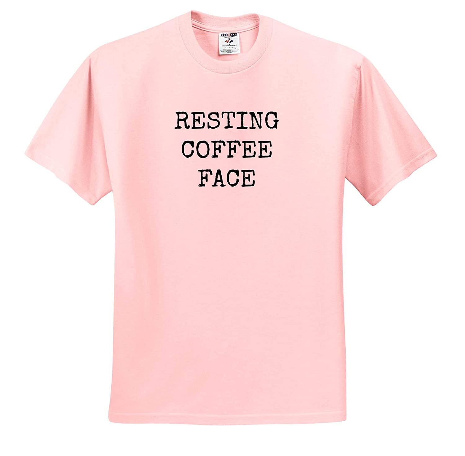 Adult T-Shirt XL 3dRose Gabriella-Quote Image of Resting Coffee Face Quote ts/_316956