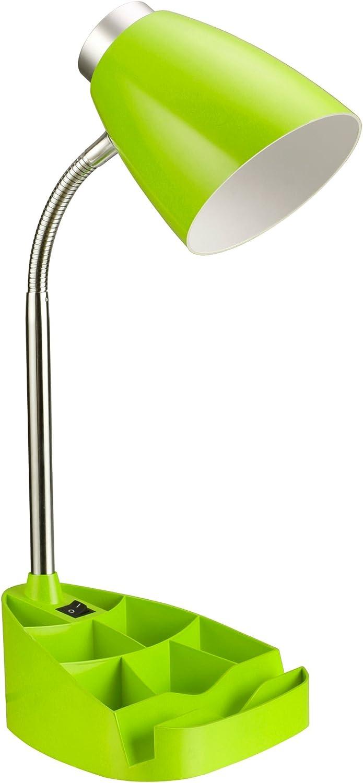 Gooseneck Organizer Desk Lamp, Green