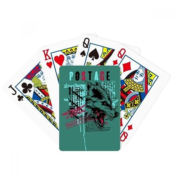 Graffiti calle lobo sangre ilustración patrón poker juego de ...