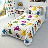 babies-island Children's Duvet Cover and Pillowcase Cot/Cot bed/Toddler Bed/Single bed - Monsters (120x150 cm)