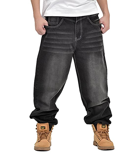 Amazon.com: qiboe Mens Fashion mitad Denim Cargo – Pantalón ...