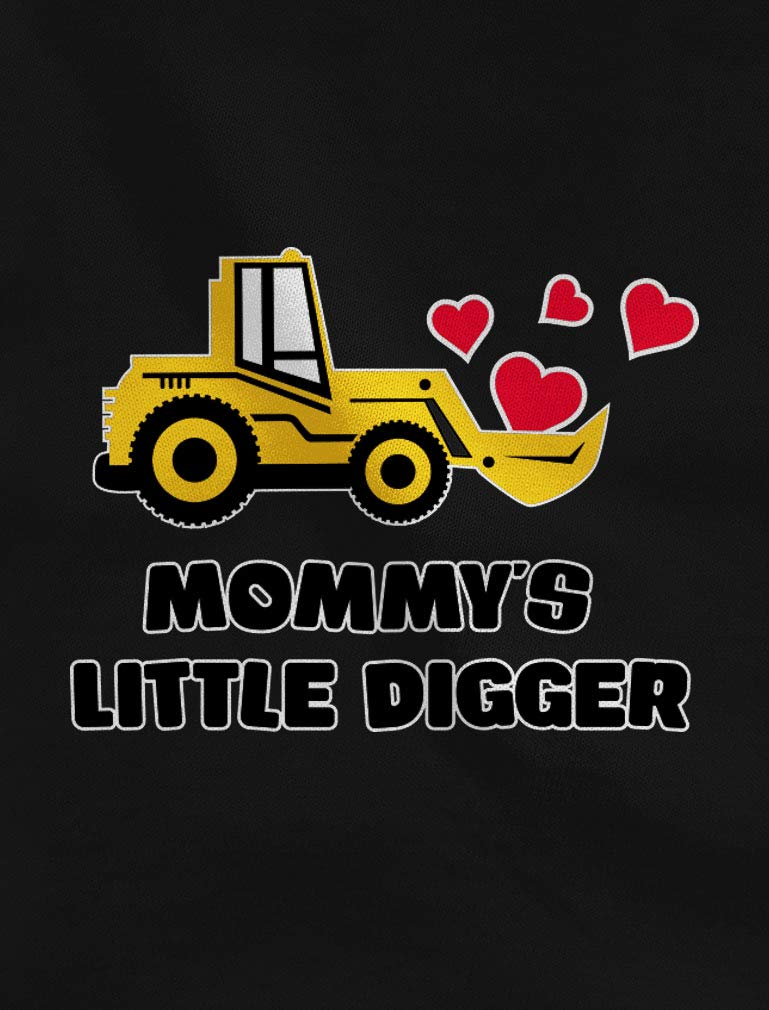 Mommy's Little Digger Valentine's Day Toddler Girls Fitted Long Sleeve T-Shirt