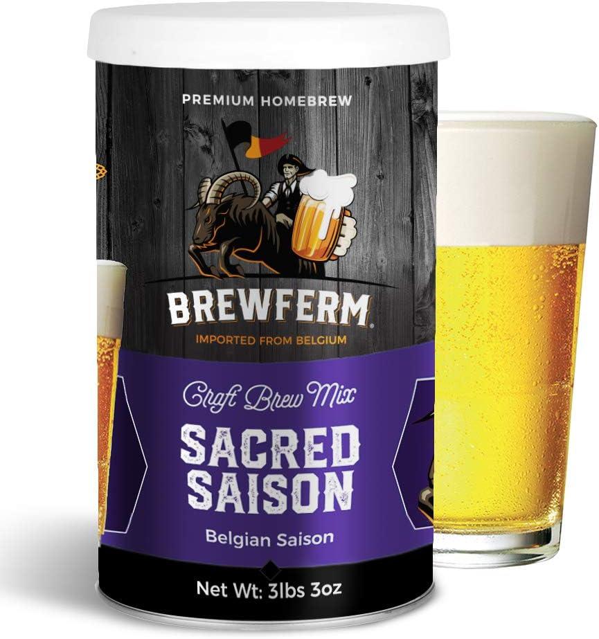 Brewferm Sacred Saison (Belgian Saison) Belgian Homebrew Craft Beer Mix - makes 15 liters or 4 gallons of beer