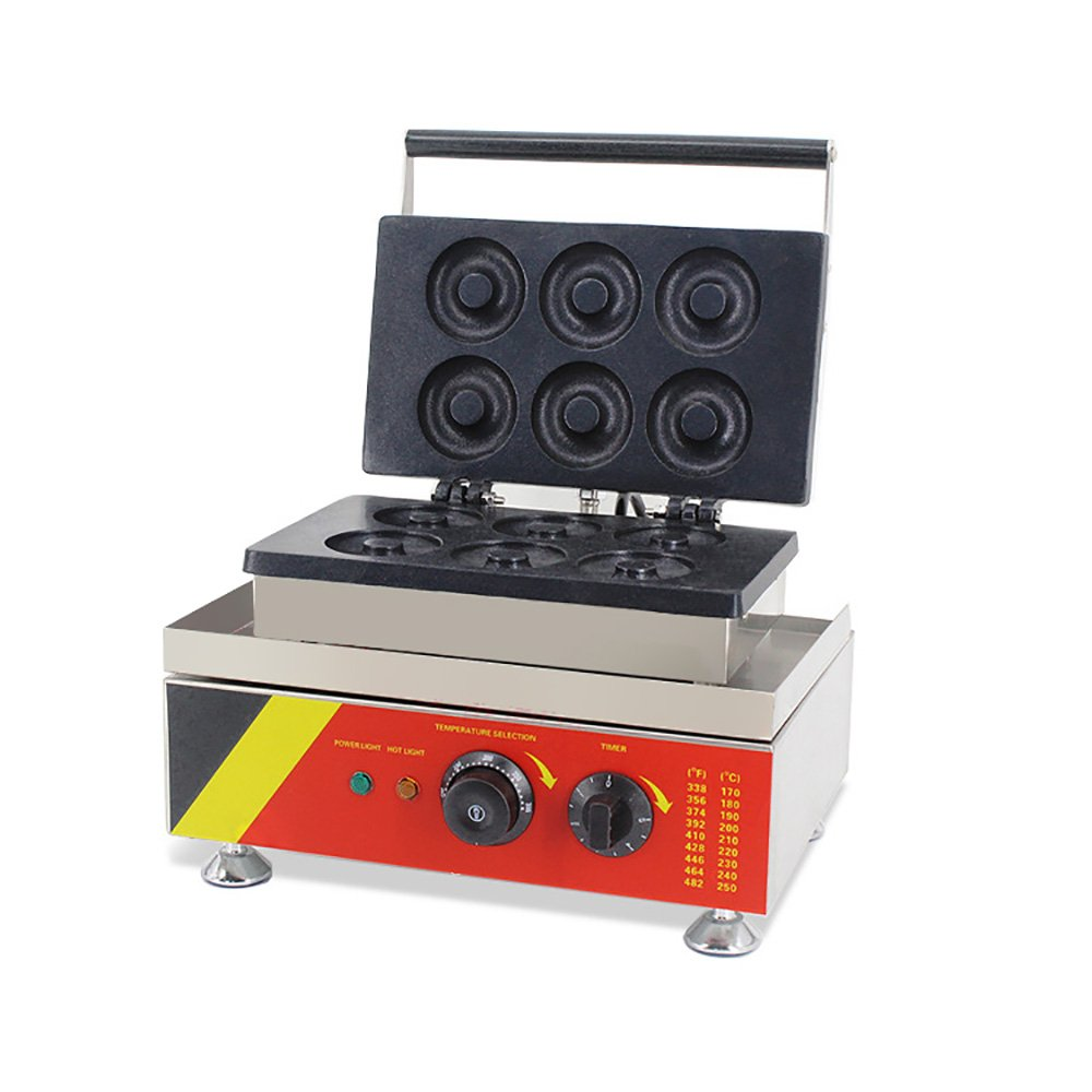 Commercial Donut Machine Maker Waffle Automatic Electric 6 Pieces 1.5Kw 110V
