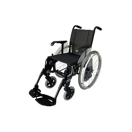 Forta fabricaciones - Silla de aluminio con ruedas interiores FORTA Basic Duo - 41 cm,
