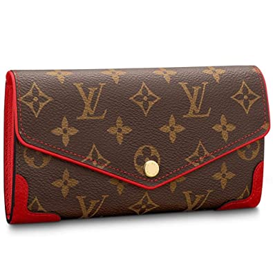 Images For Images For Louis Vuitton Made In France >> Amazon Com Louis Vuitton Monogram Canvas Sarah Wallet