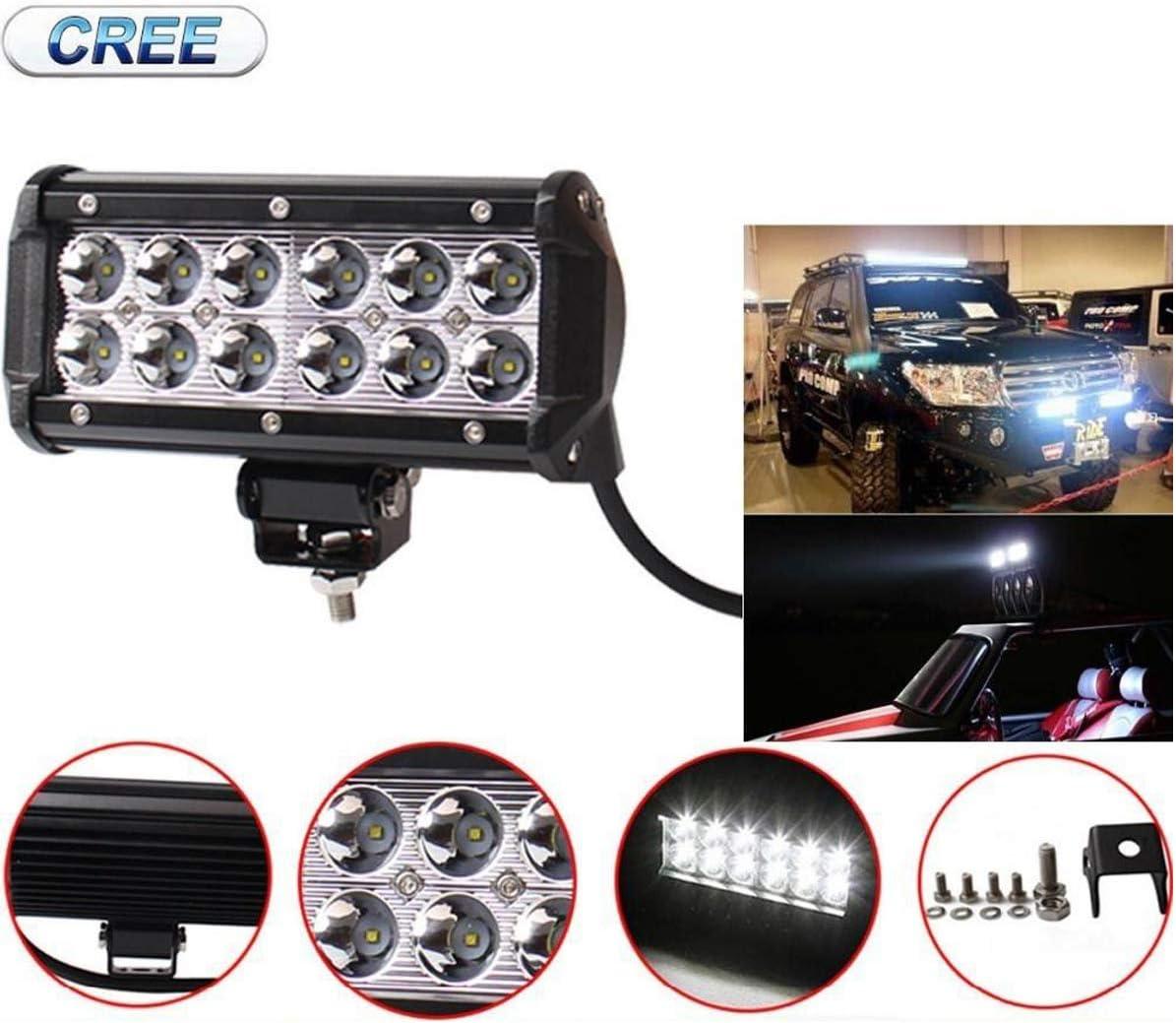 Willpower 6,5 Zoll 36W LED-Lichtleiste Flutlicht LED-Arbeitsscheinwerfer IP67 wasserdicht Offroad-Nebelscheinwerfer mit Montagehalterungen f/ür Pickup 4WD 4X4 SUV ATV UTV Traktorboot 2 St/ück