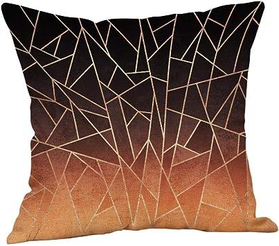 Taie d/'oreiller géométrique coton housse de coussin chambre taie d/'oreiller