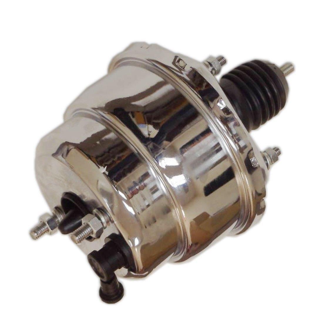 7 Dual Diaphragm chrome Brake Booster Hot Rod Street