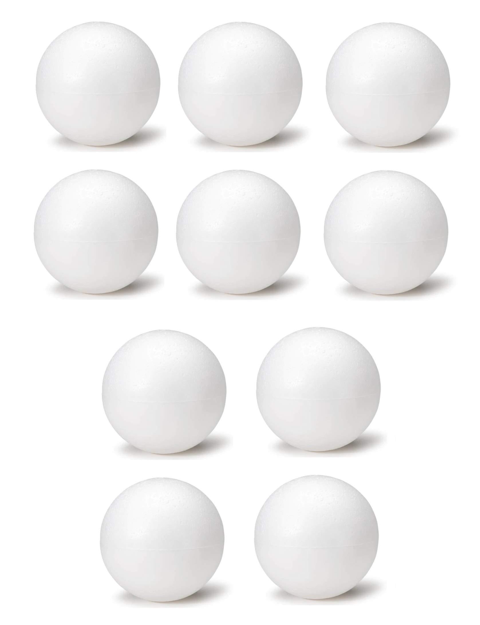 8 Inch White Foam Craft Balls for Art & Crafts Projects Foam Polystyrene Balls (10)