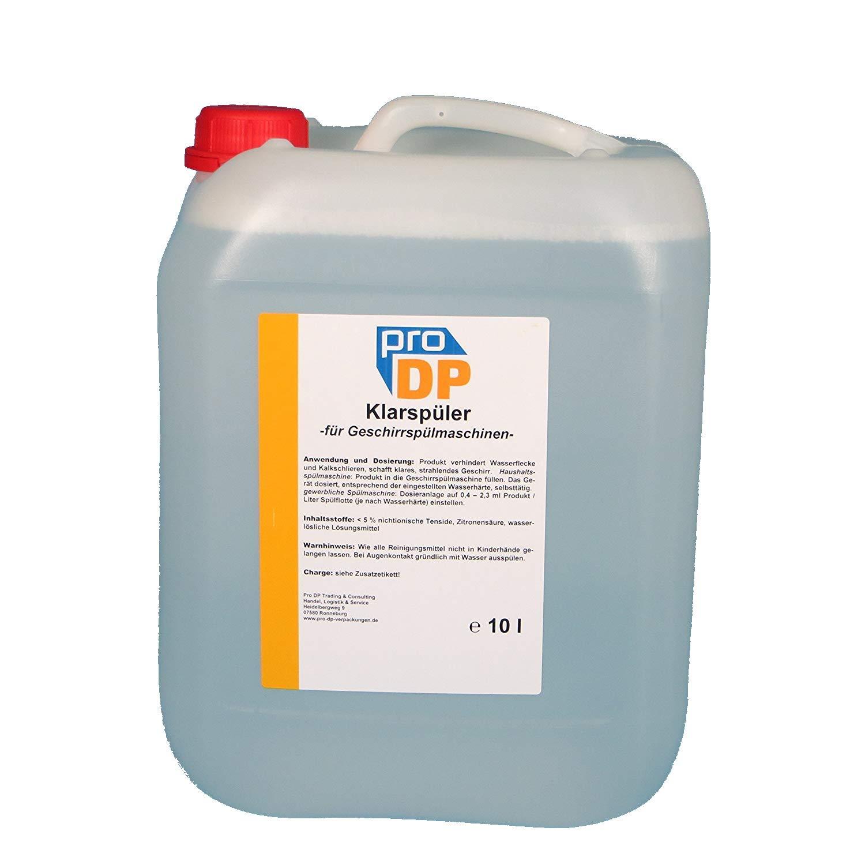 10l bidón Pro DP profesional abrillantador para lavavajillas en el ...
