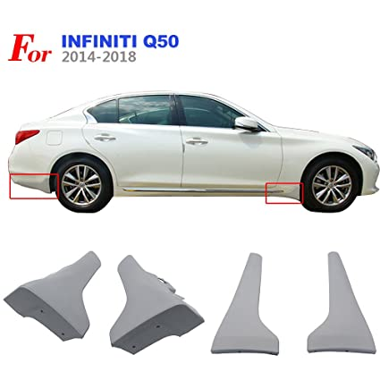 NINTE For 2014 2018 Infiniti Q50/Q50s OE Style Front + Rear Splash Guards