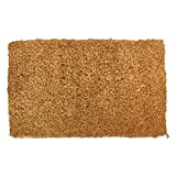 J & M Home Fashions Natural Plain Vinyl Back Coco Doormat, 18 by 30-Inch