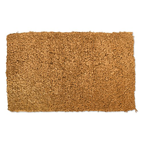 Natural Patio Rug (J&M Home Fashions Natural Coir Coco Fiber Non-Slip Outdoor/Ind+N343:S343oor Doormat, 18x30