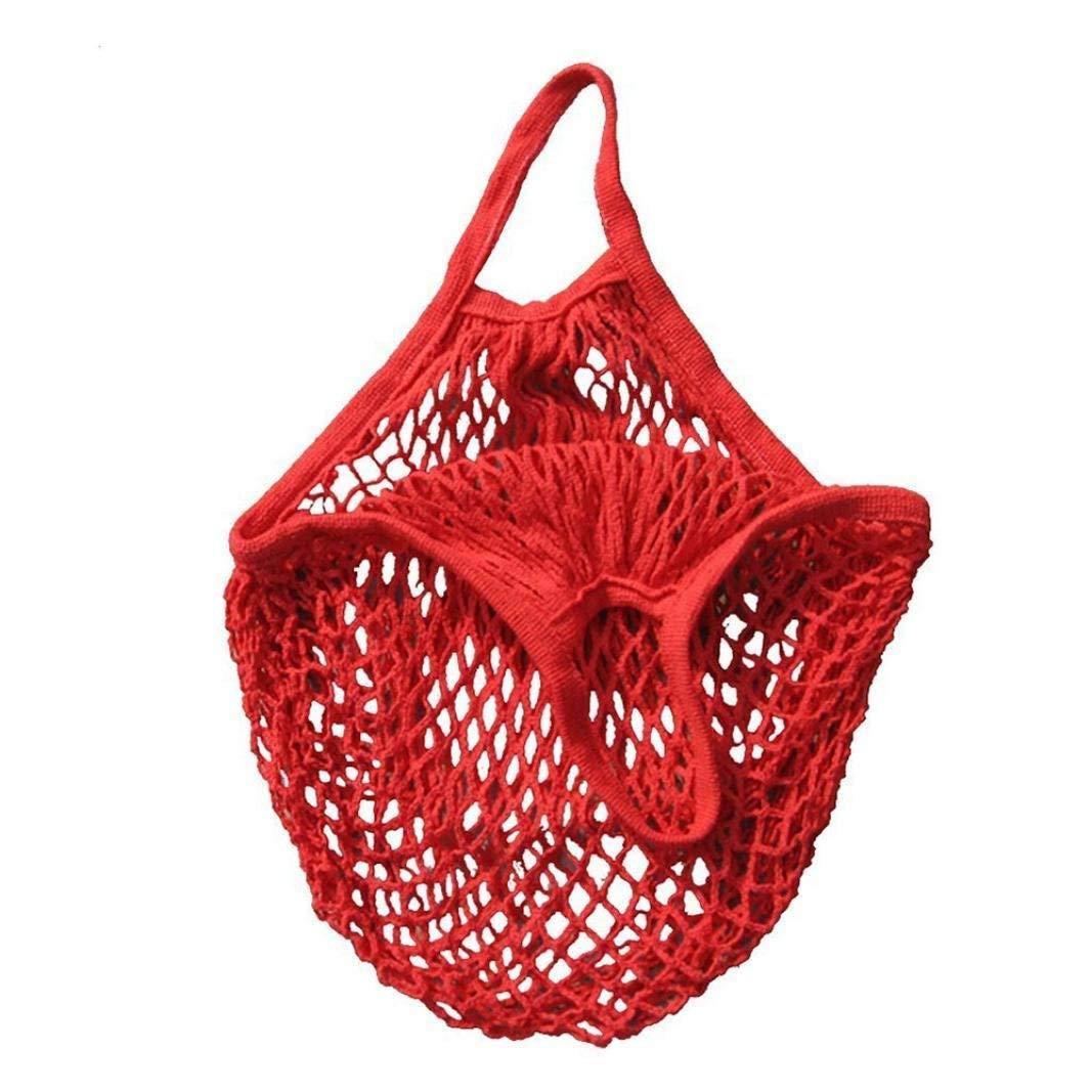Storage Bags, TINGSU Mesh Net Turtle Bag String Shopping Bag Reusable Fruit Storage Handbag Totes New (Black)