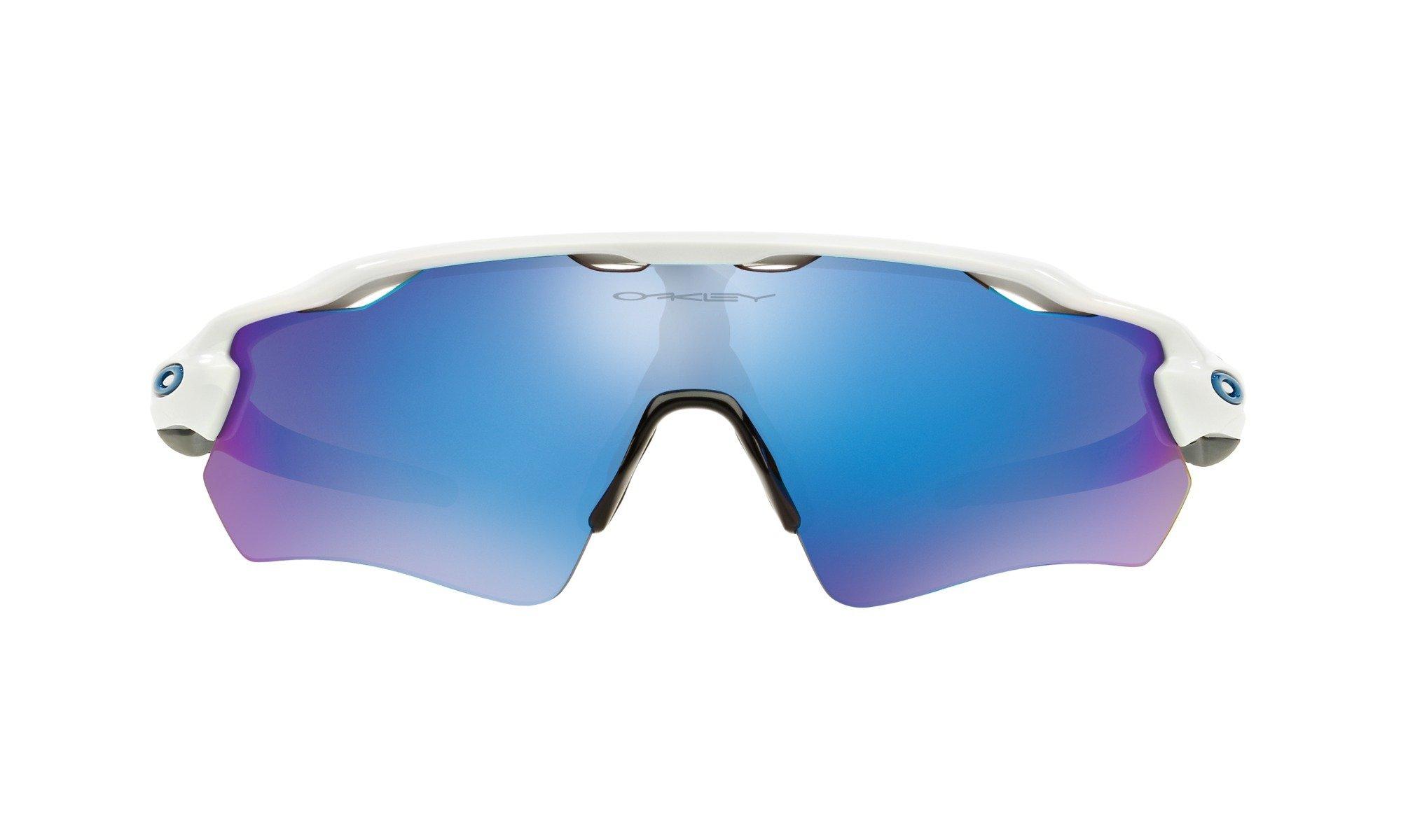 Oakley Men's Radar EV Path OO9208-17 Non-Polarized Iridium Shield Sunglasses, Polished White, 138 mm