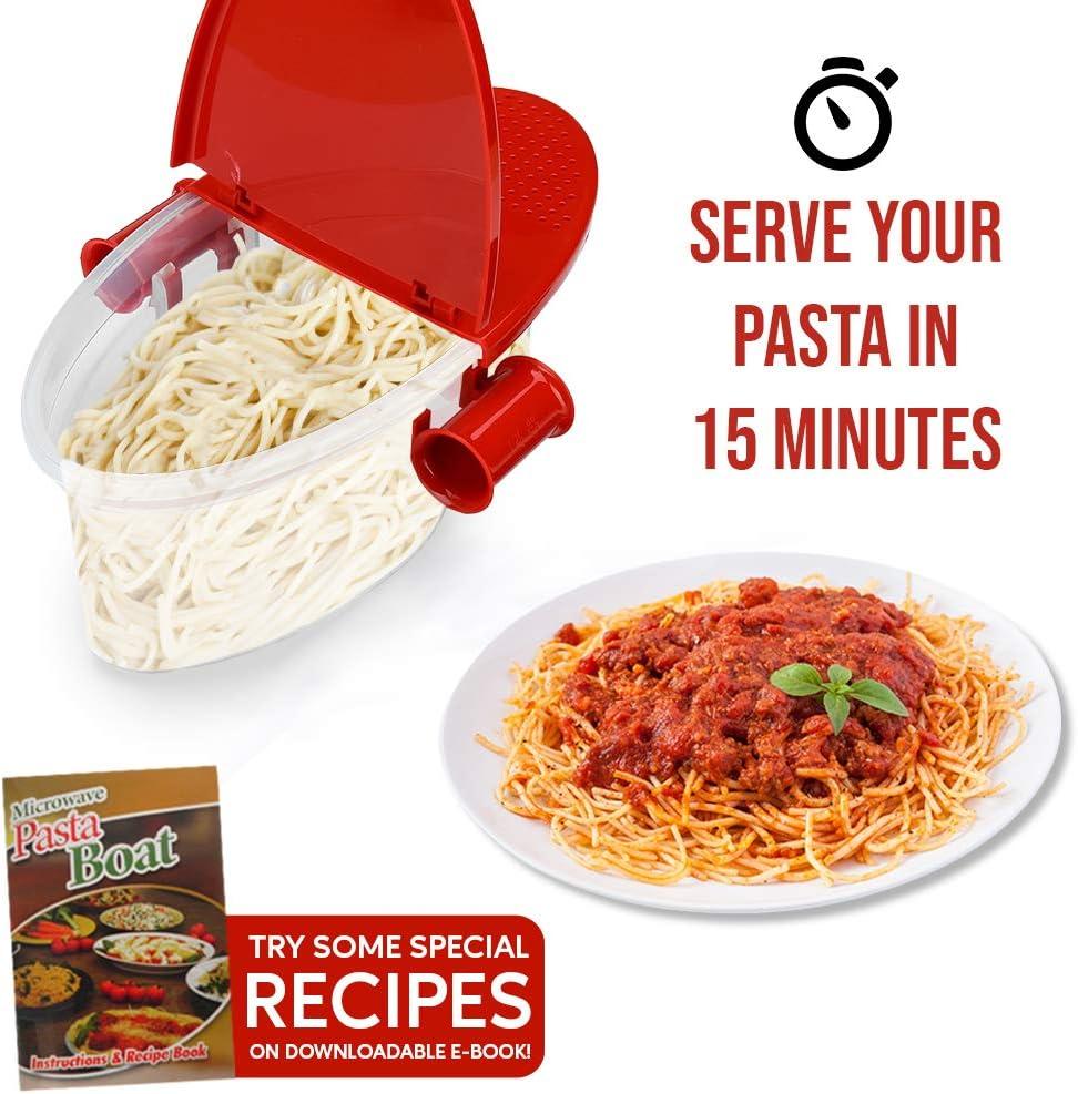 Hot Pasta Boat - Cocedor de pasta para microondas, resistente al ...