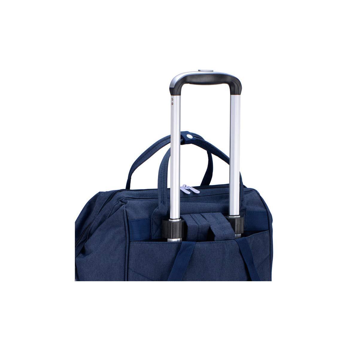 Travel Organizer Handbag Color : Blue Bahaowenjuguan Trolley case Blue Soft Bag Carrying Bag Suitcase