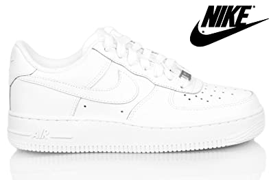 6c79b0ff0ea Nike AIR FORCE 1  07 (GS) Junior 314192-117-38.5-6 Blanc  Amazon.fr ...