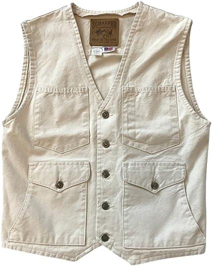 318-Nt-3Xl Schaefer Outfitter Mens Natural Vintage Mesquite Vest 3XL
