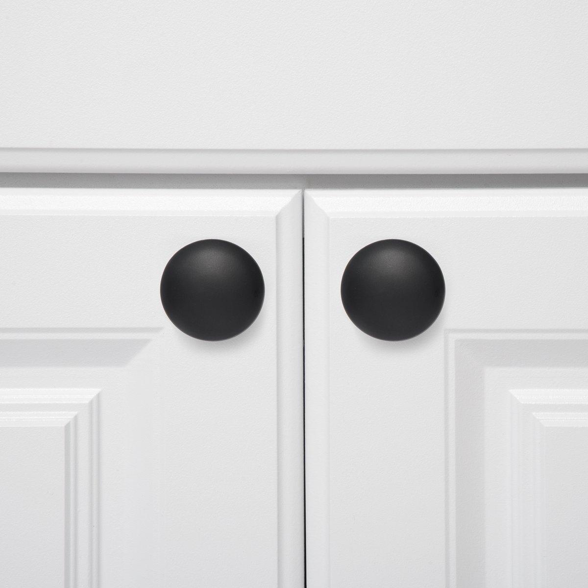 Pomo de armario redondo Cromo pulido 3,98 cm de di/ámetro Paquete de 10 Basics
