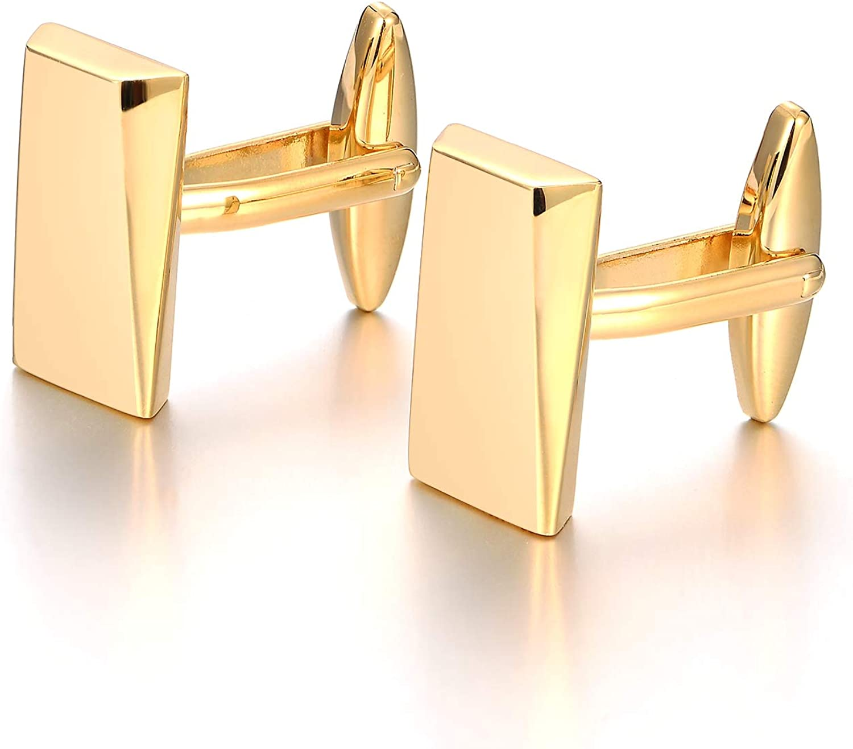 Merit O Gold//schwarz Klassische Manschettenkn/öpfe f/ür Herren Hochzeitsgeschenke aus Edelstahl f/ür Unternehmen