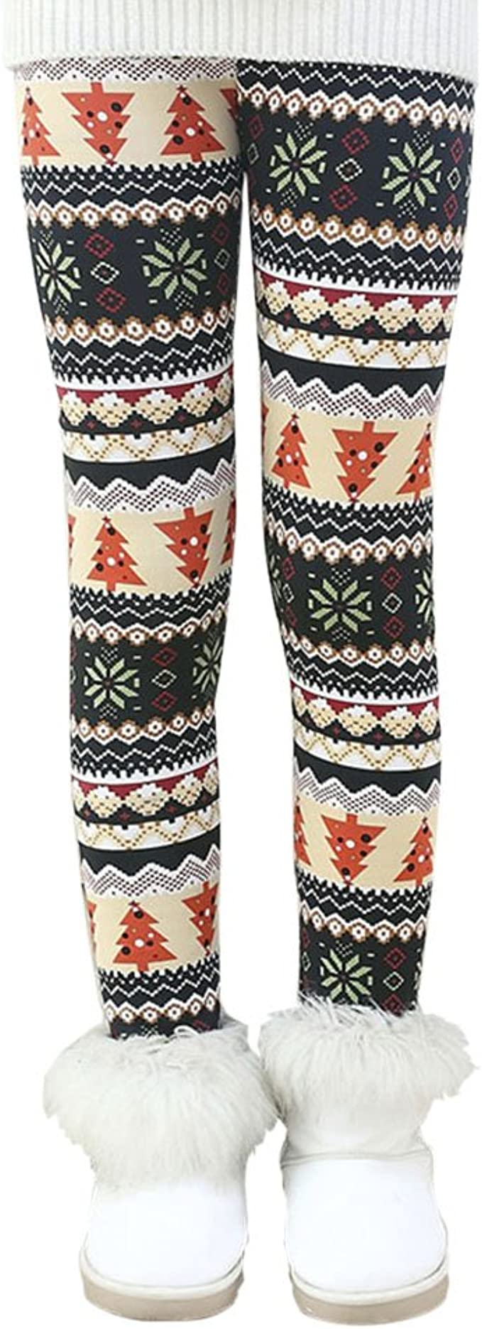 Fleece Lined Girls Leggings Winter Warm Kids Tights Pants Cashmere Plush Cotton Leggings Casual fleece lined Thick Leggings 3-12 Years