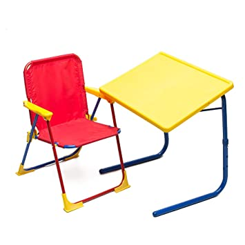 Table Mate 4 Kids Plastic Folding Table And Chair Set (Red/Blue/Yellow