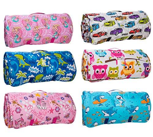 Kids Nap Mat With Removable Pillow Soft Lightweight
