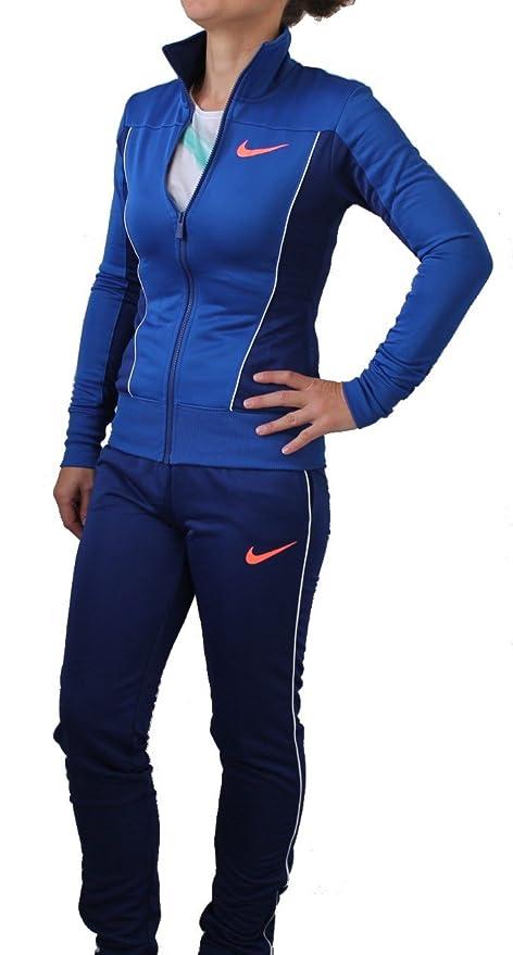 Nike POLYWARP WARM UP - Chándal para mujer, color azul Talla ...