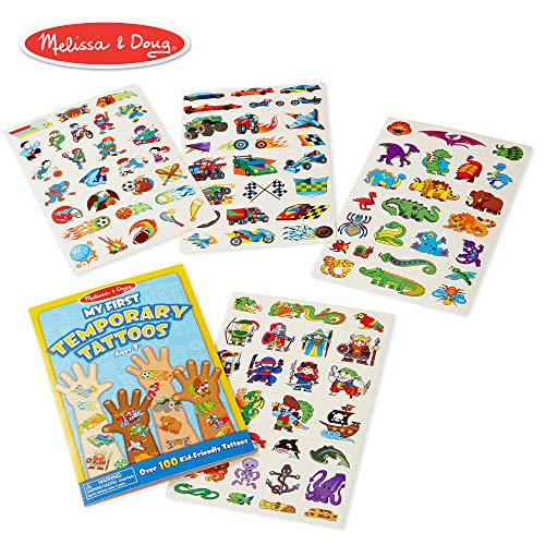 (Melissa & Doug My First Temporary Tattoos: Adventure, Creatures, Sports, and More (100+ Kid-Friendly)