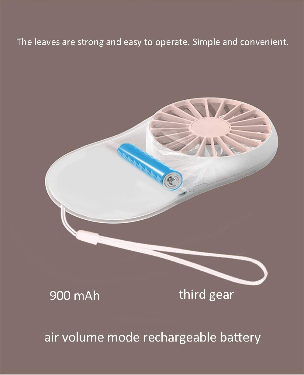 Ultra-Thin Handheld Portable Mini USB Travel Charging Fan Suitable for Outdoor Home Office