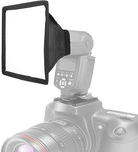 LANMU Difusor de Flash con difusor de Reflector, Universal ...