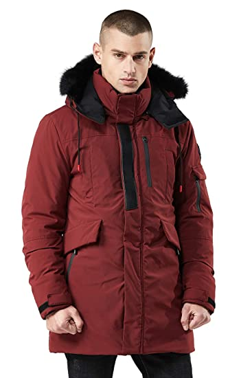 02b754f7c Men's Thickened Hooded Puffer Jacket Coats Quilted Padded with Faux Fur  Outwear with Hood Collar Winter Coats for Men,Black/Navy Blue/Army  Green/Wine ...