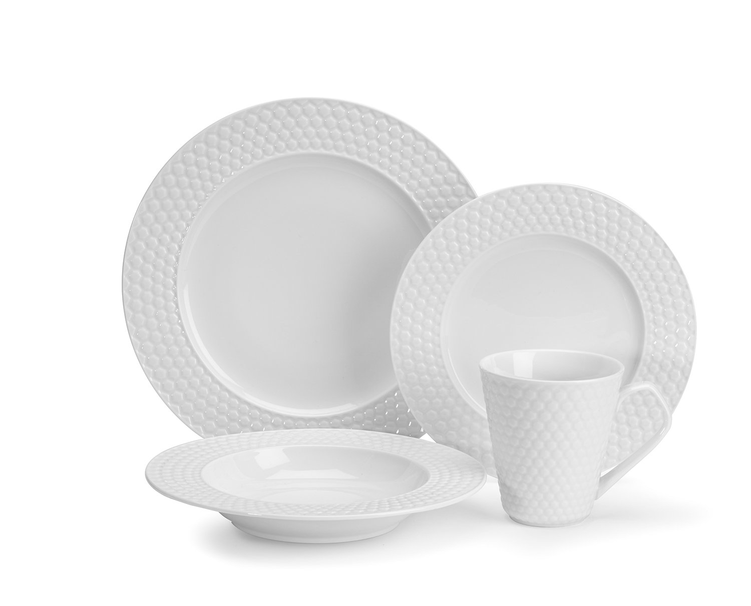 Cuisinart CDP01-S4WC Chailles Collection 16-Piece Porcelain Dinnerware Set by Cuisinart