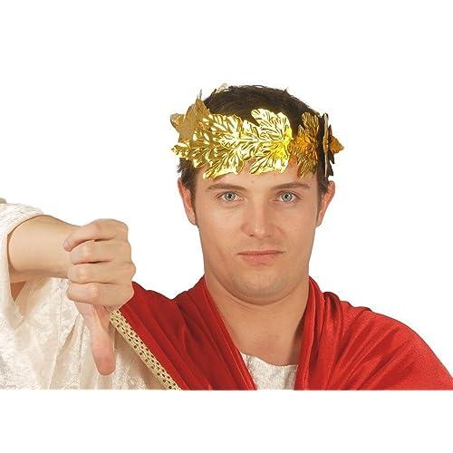 Couronne de Laurier Empereur Romain César en plastique
