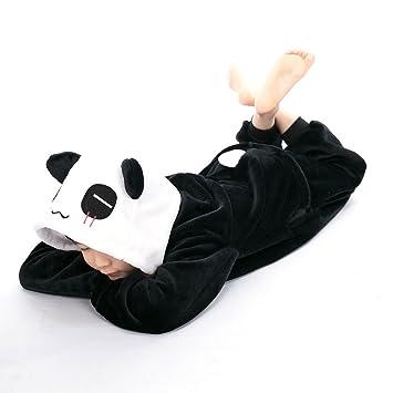 88ce183d70e3 Buy Unisex Animal Children Dinosaur Onesie Pajamas Costume Cosplay  Sleepwear (Black-Panda
