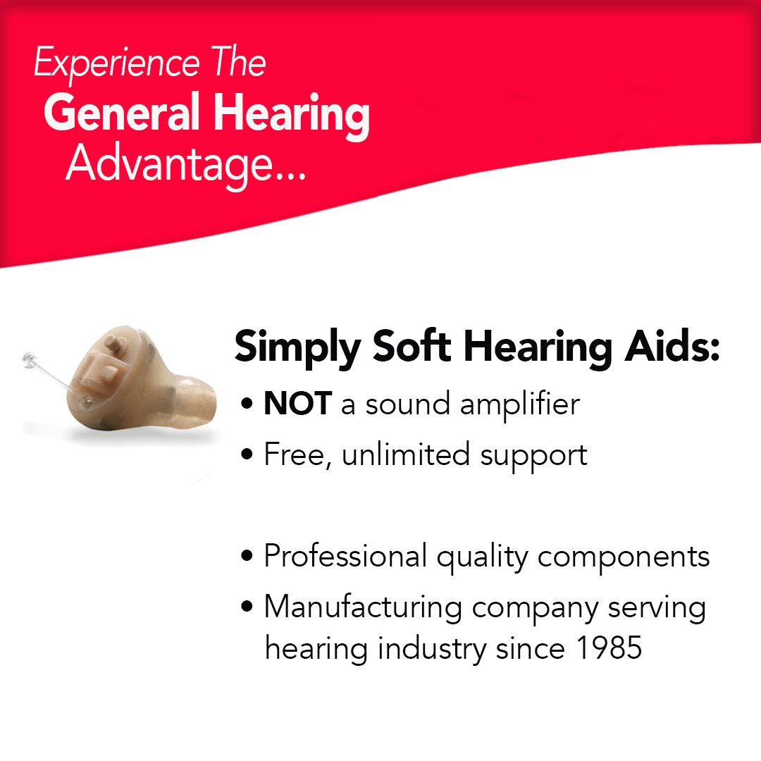 General Hearing Instruments Hearing Aid Simply Soft Smart Touch Left Ear, Beige