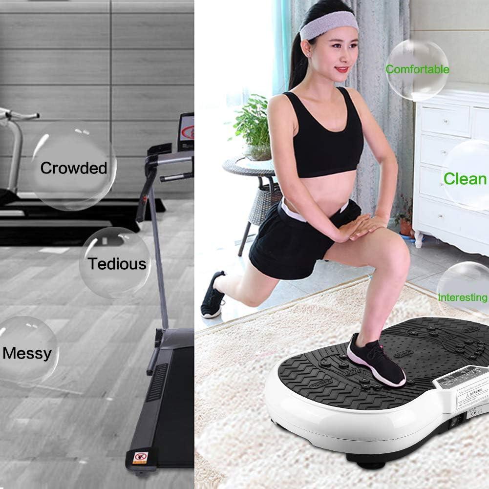 wefun Plateforme Vibrante Oscillante pour Perte de Poids /équipement Vibration Debout Corps Machine Maison avec Bluetooth Musique